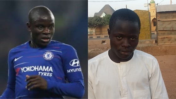 Perfect lookalike of Chelsea star Kante spotted in Buhari's hometown Daura (photos)