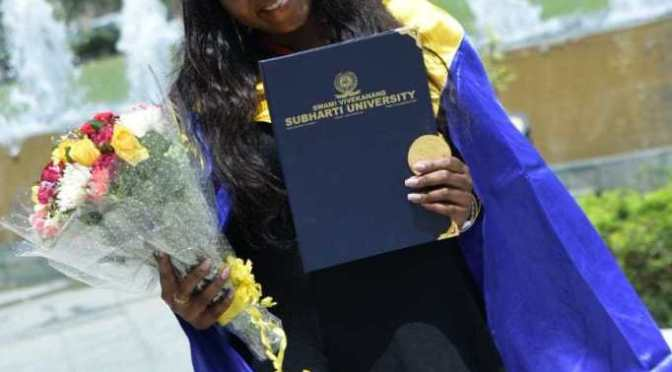 Nigerian lady breaks record in Indian University