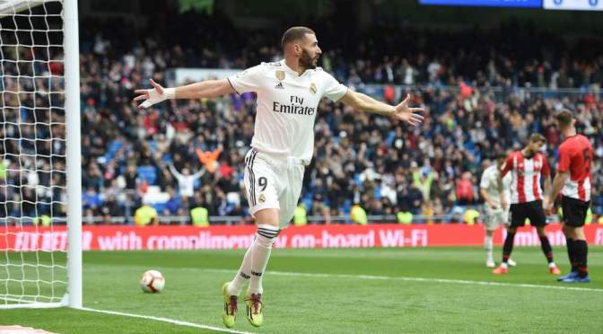 Benzema's hat-trick hands Real Madrid A 3-0 win over Athletic Bilbao
