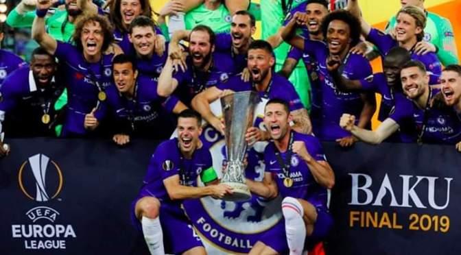 Chelsea defeat Arsenal 4-1 in Europa League Final