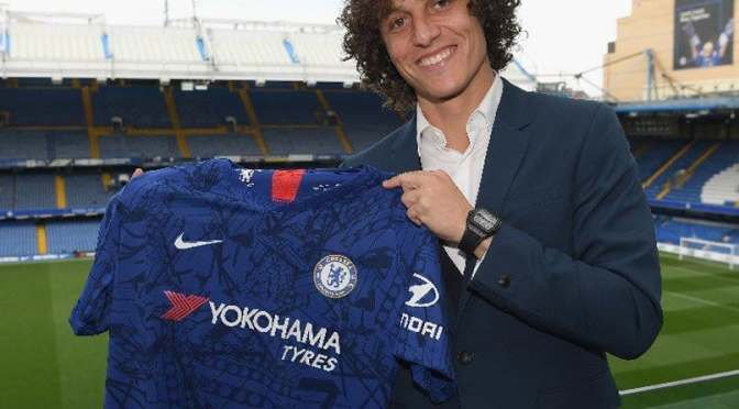 Chelsea Star, David Luiz Signs New Two-Year Deal Contract Extension With Chelsea