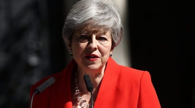British Prime Minister Theresa May Quits Over Failure To Deliver Brexit