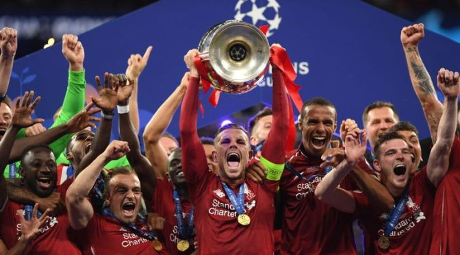 Liverpool lifts the Champions League Trophy