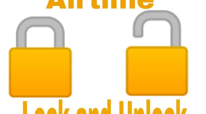 How to lock and unlock airtime (credit)