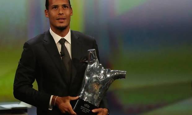Liverpool Defender Virgil van Dijk wins UEFA Men's Player of the Year award