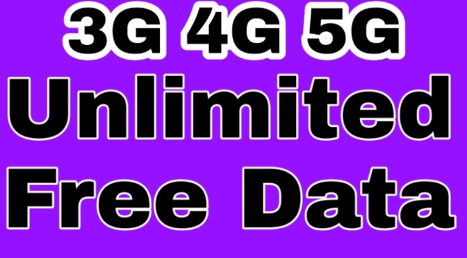 How to get free data. Unlimited