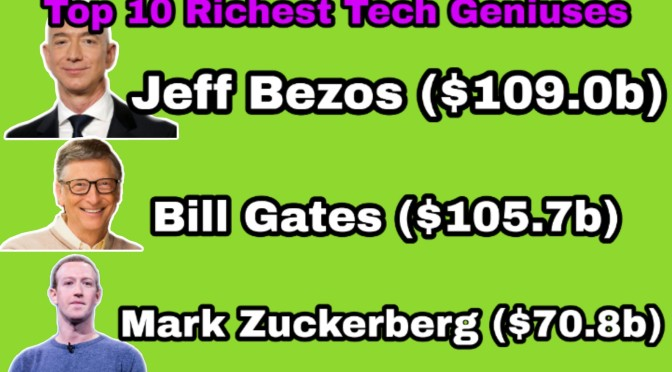Top 10 Richest Tech Geniuses In The World(2019)