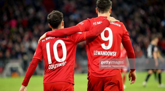 Coutinho Scores A Hat-Trick As Bayern Munich Demolish Bremen 6-1