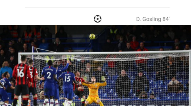 3 Reasons Why Chelsea Lost To Bournemouth 0-1