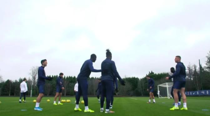 Barkley and Batshuayi Clash in Chelsea training