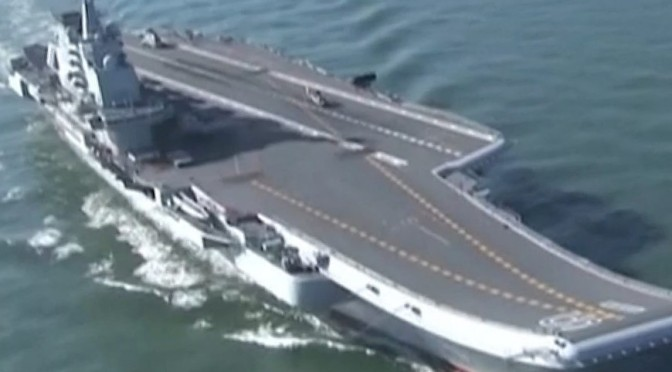 China Officially Launched Its Second But First Domestically-Built Aircraft Carrier